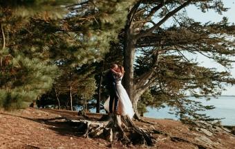 Mariage intimiste sur l'île aux Moines