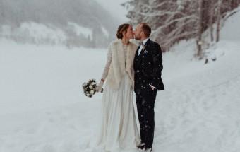 Un mariage sous la neige au Domaine du Baron